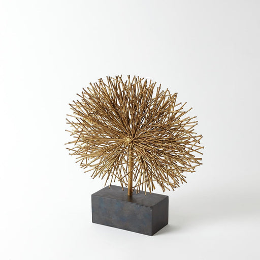 Global Views Tumble Weed Sculpture Gold Leaf