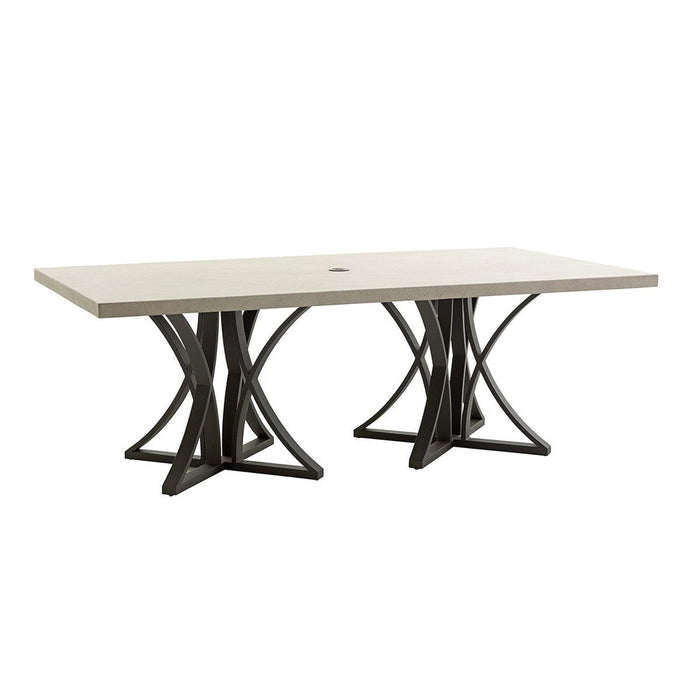 Tommy Bahama Outdoor Cypress Point Ocean Terrace Dining Table With Weatherstone Top