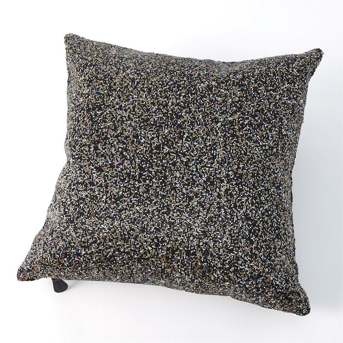Global Views Multi Beaded Pillow-Gold