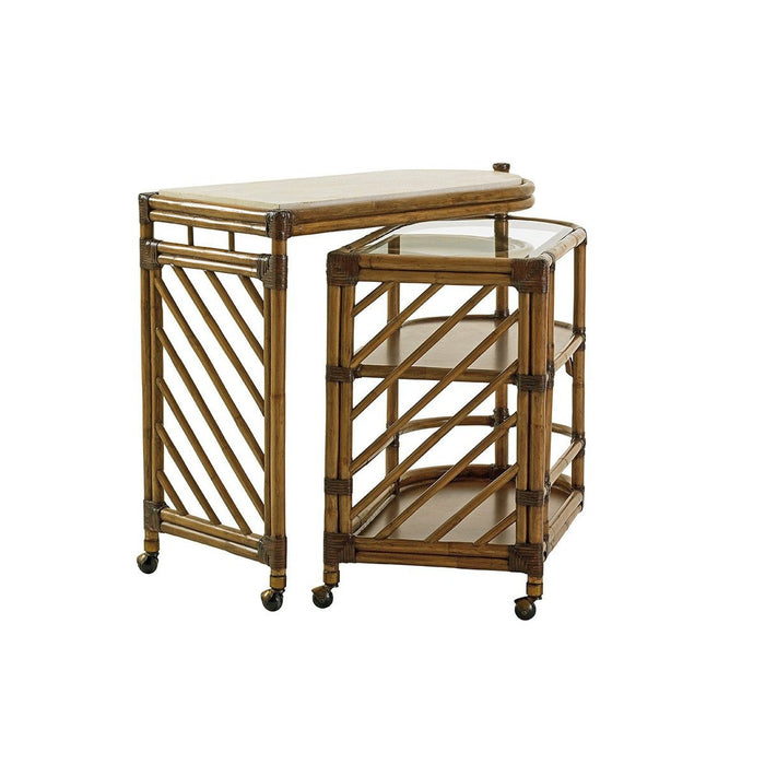 Tommy Bahama Home Twin Palms Cable Beach Bar Cart