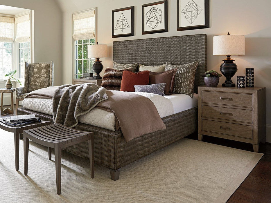 Tommy Bahama Home Cypress Point Driftwood Isle Woven Platform Bed