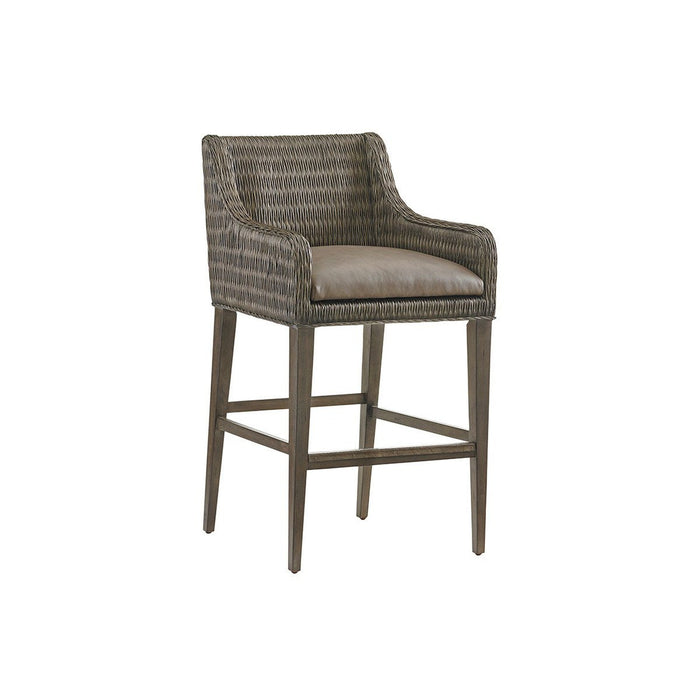 Tommy Bahama Home Cypress Point Turner Woven Bar Stool