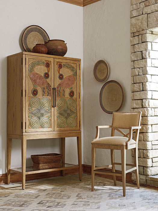 Tommy Bahama Home Los Altos Cameroon Bar Cabinet