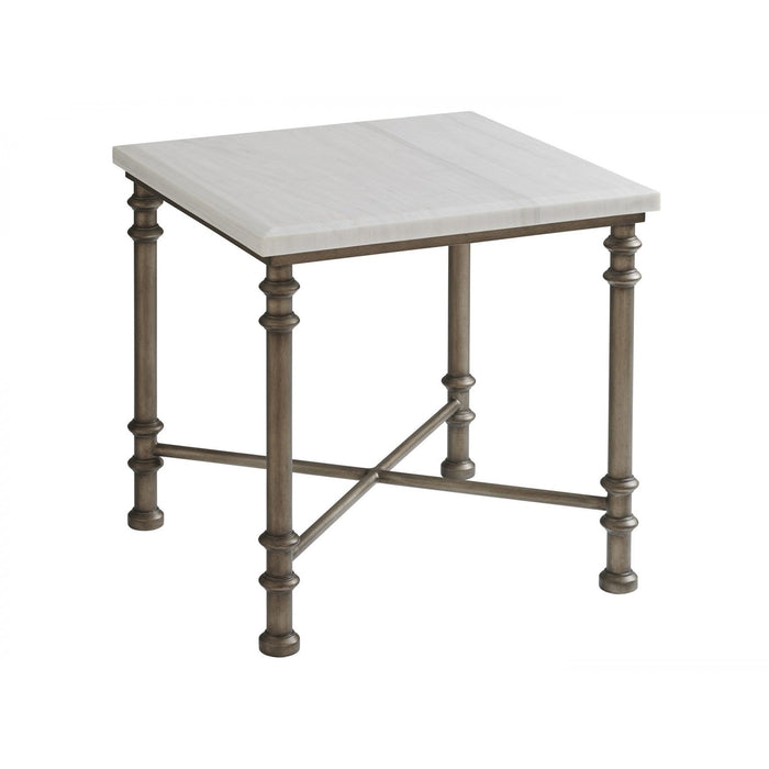 Tommy Bahama Home Ocean Breeze Flagler Square Marble Top End Table