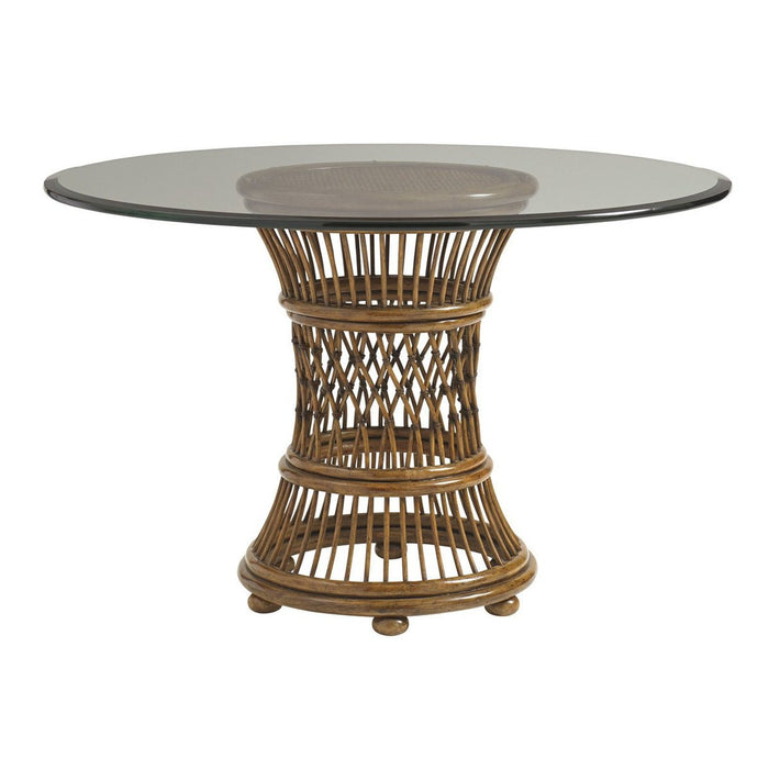 Tommy Bahama Home Bali Hai Aruba Dining Table With Glass Top