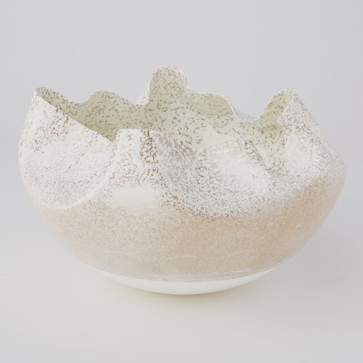 Global Views Cambrian Bowl Ivory/Sand