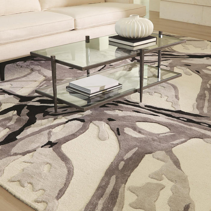 Global Views Eyes On The World Rug-Ivory/Black