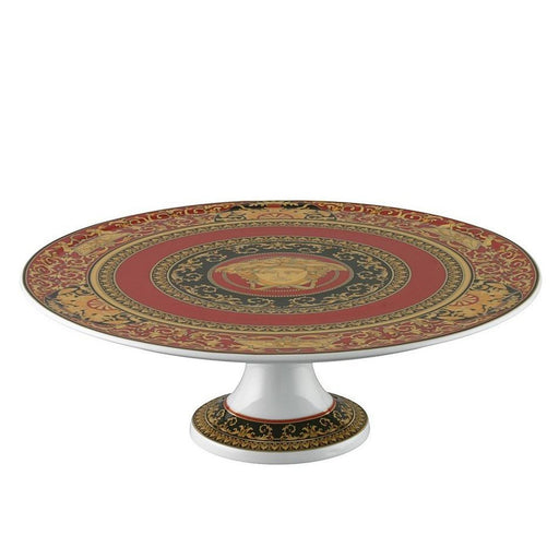 Versace Medusa Red - Footed Cake Plate