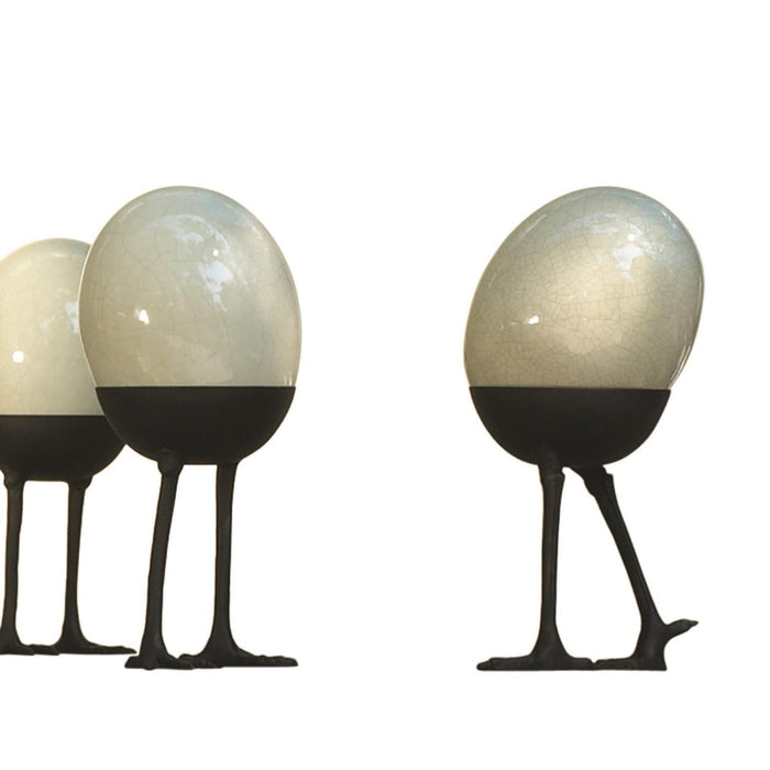 Global Views Ostrich Egg on Legs