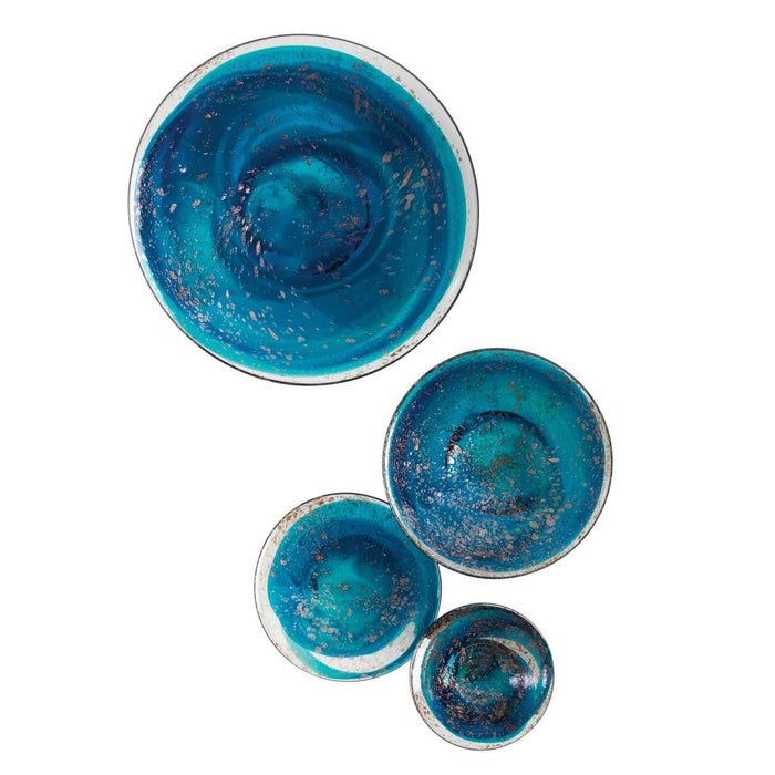 Global Views Glass Wall Mushrooms (Set of 4)
