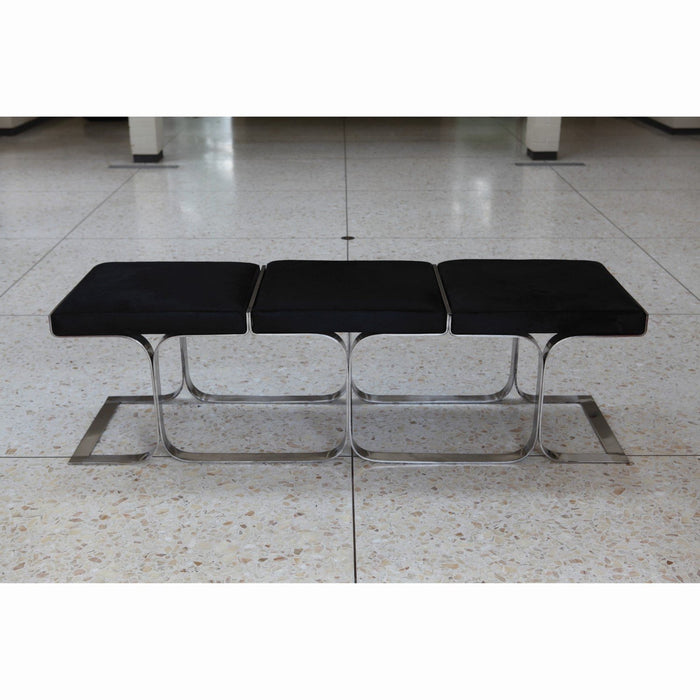 Global Views Airline Bench-Black Angus