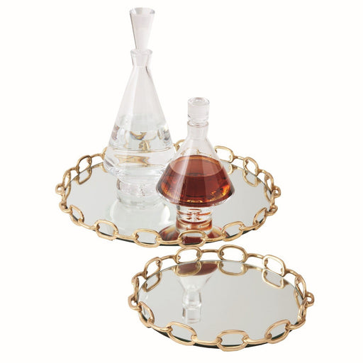 Global Views Linked Mirrored Tray