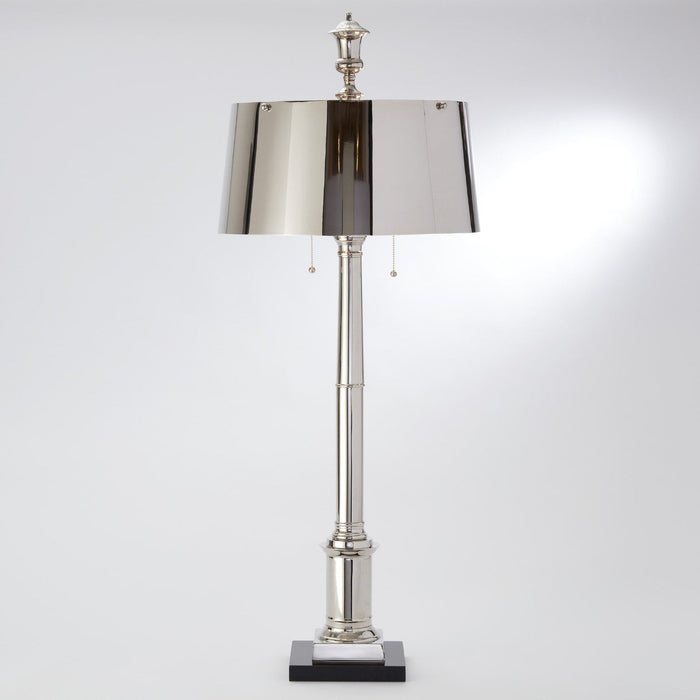 Global Views Library Lamp-Nickel