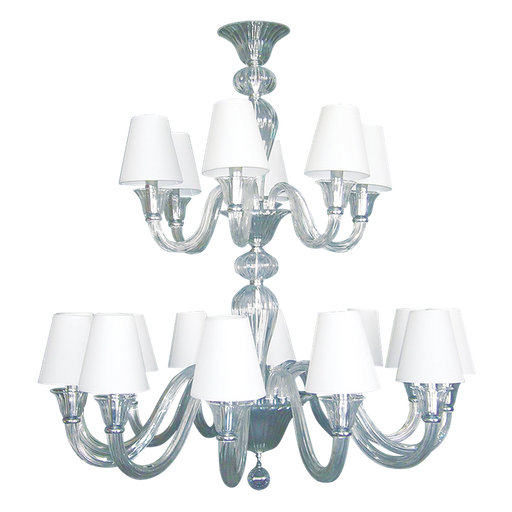 Christopher Guy Le Waltz Double Tier glass Chandelier