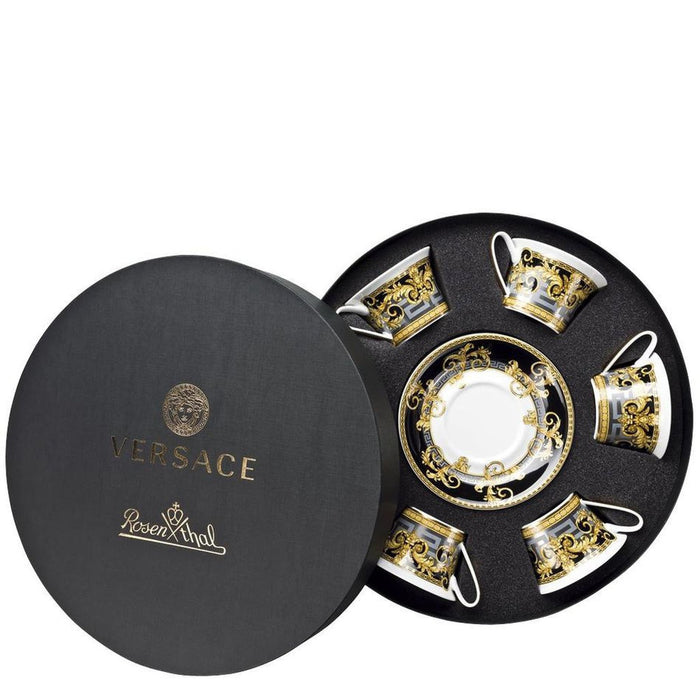 Versace Prestige Gala - Tea Cups & Saucers Round Hat Box, Set of 6