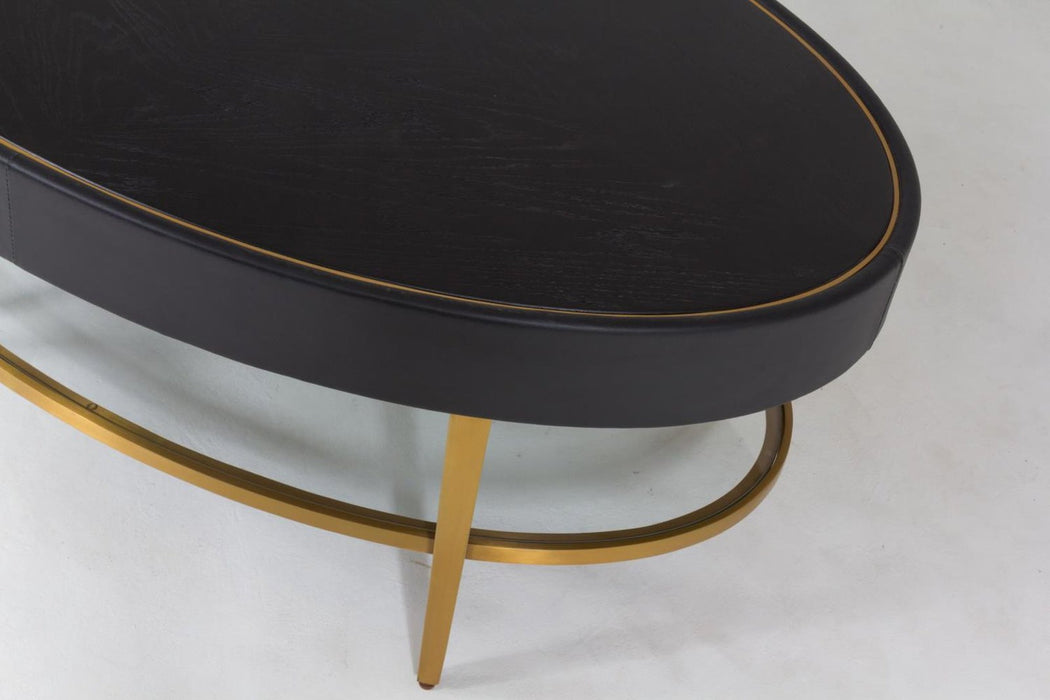 Global Views Ellipse Cocktail Table