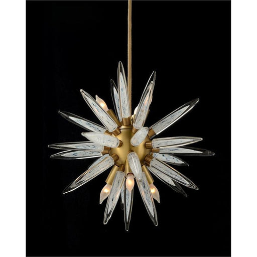 John Richard Handblown Glass Sphere Droplight with Six Lights