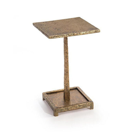 John Richard Textured Antique Brass Martini Table