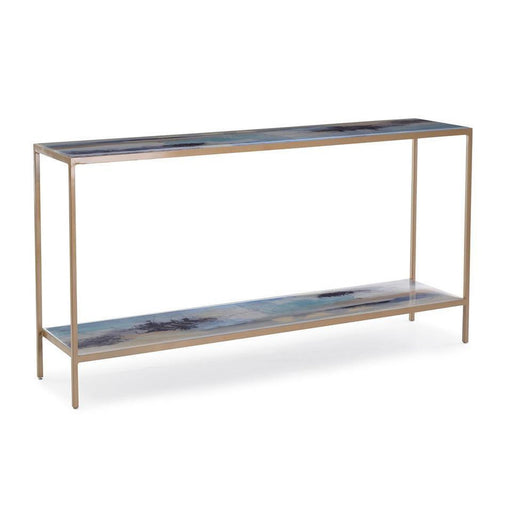 John Richard Susan Godwin's Miles Apart Sofa Table with Shelf