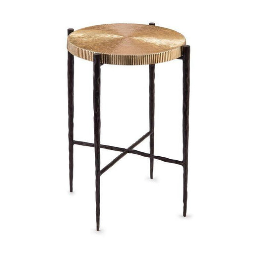 John Richard Black Oxidized and Gold Accent Table