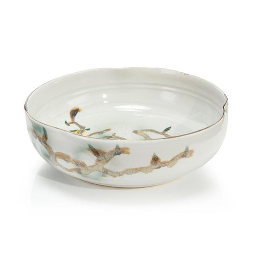 John Richard Twigs and Teal Bowl I
