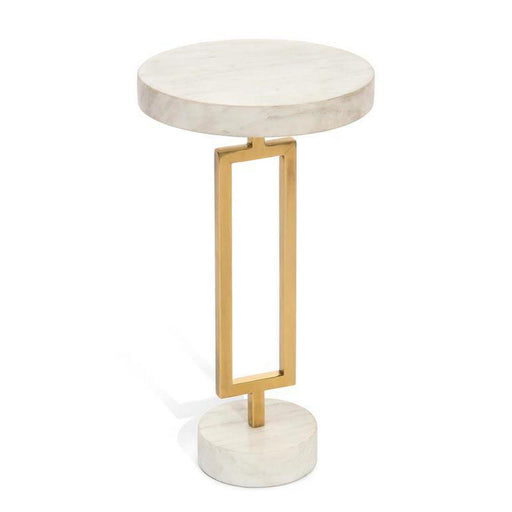 John Richard Brass and Marble Martini Table