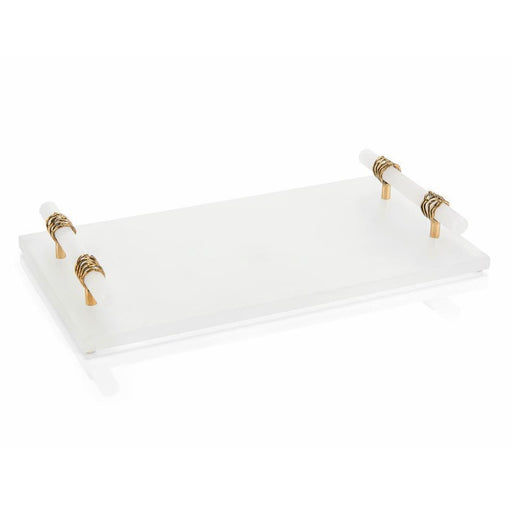 John Richard Alabaster Tray with Alabaster Handles