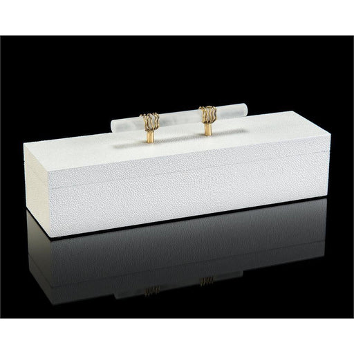 John Richard White Box with Alabaster Handle