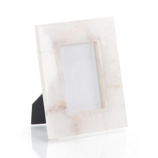 John Richard White Translucent Agate Picture Frame