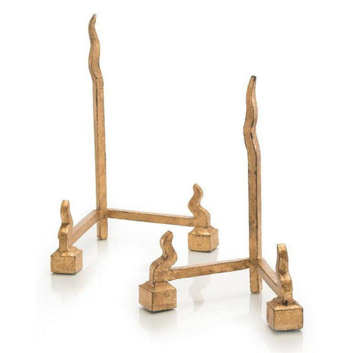 John Richard Set of Two Forged Charger Stands