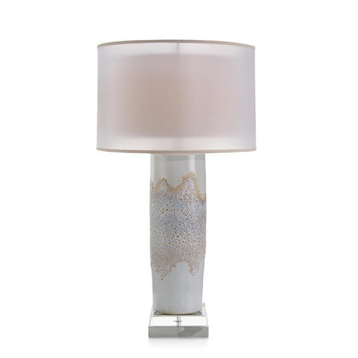 John Richard White Blister Column Table Lamp