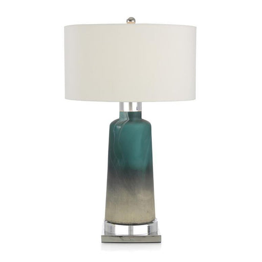 John Richard Cerulean Blue and Cream Table Lamp