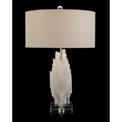 John Richard Tiered Selenite Table Lamp