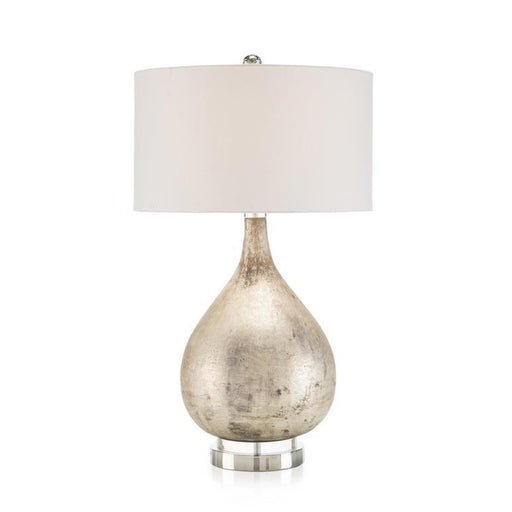 John Richard Table Lamp in Weathered Silver Finish
