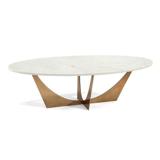 John Richard Marble And Brass Cocktail Table