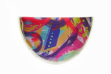 Printed Canvas Circle Clutch
