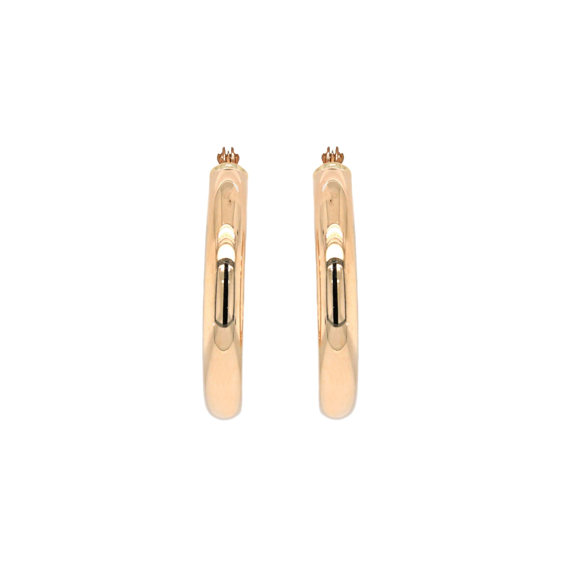 25mm 14K Gold Hoop Earrings