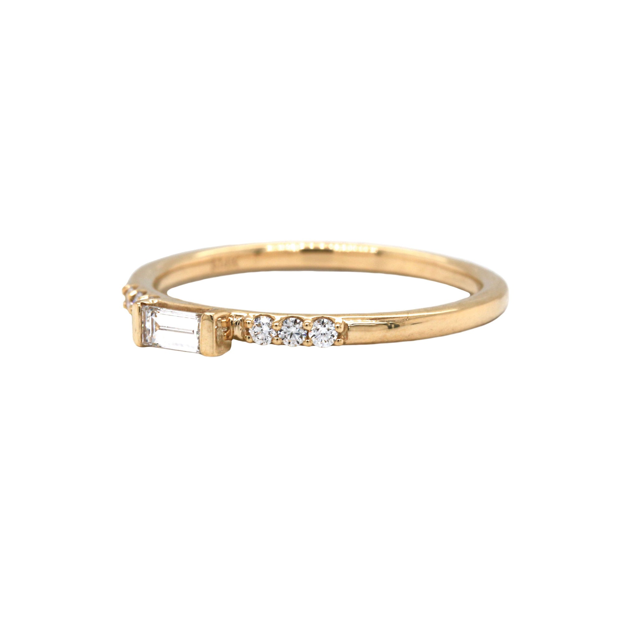 Diamond Stackable 14K Gold Ring