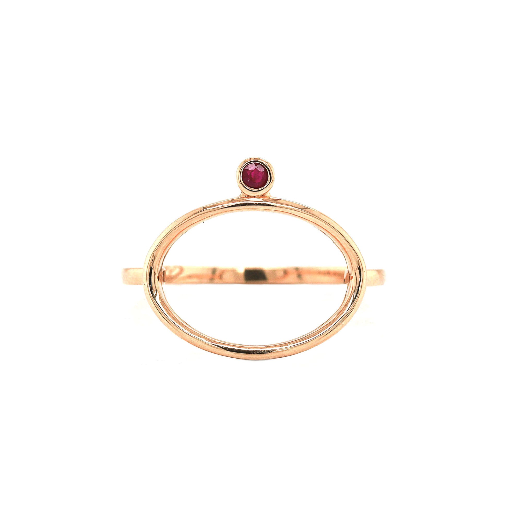 Ruby 14K Yellow Gold - The Ayanna Ring