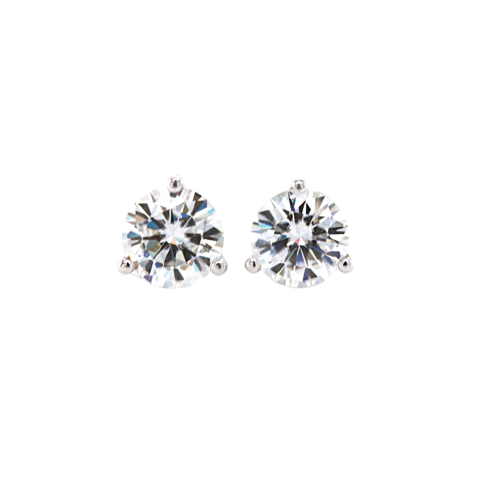Moissanite Two Carat Studs