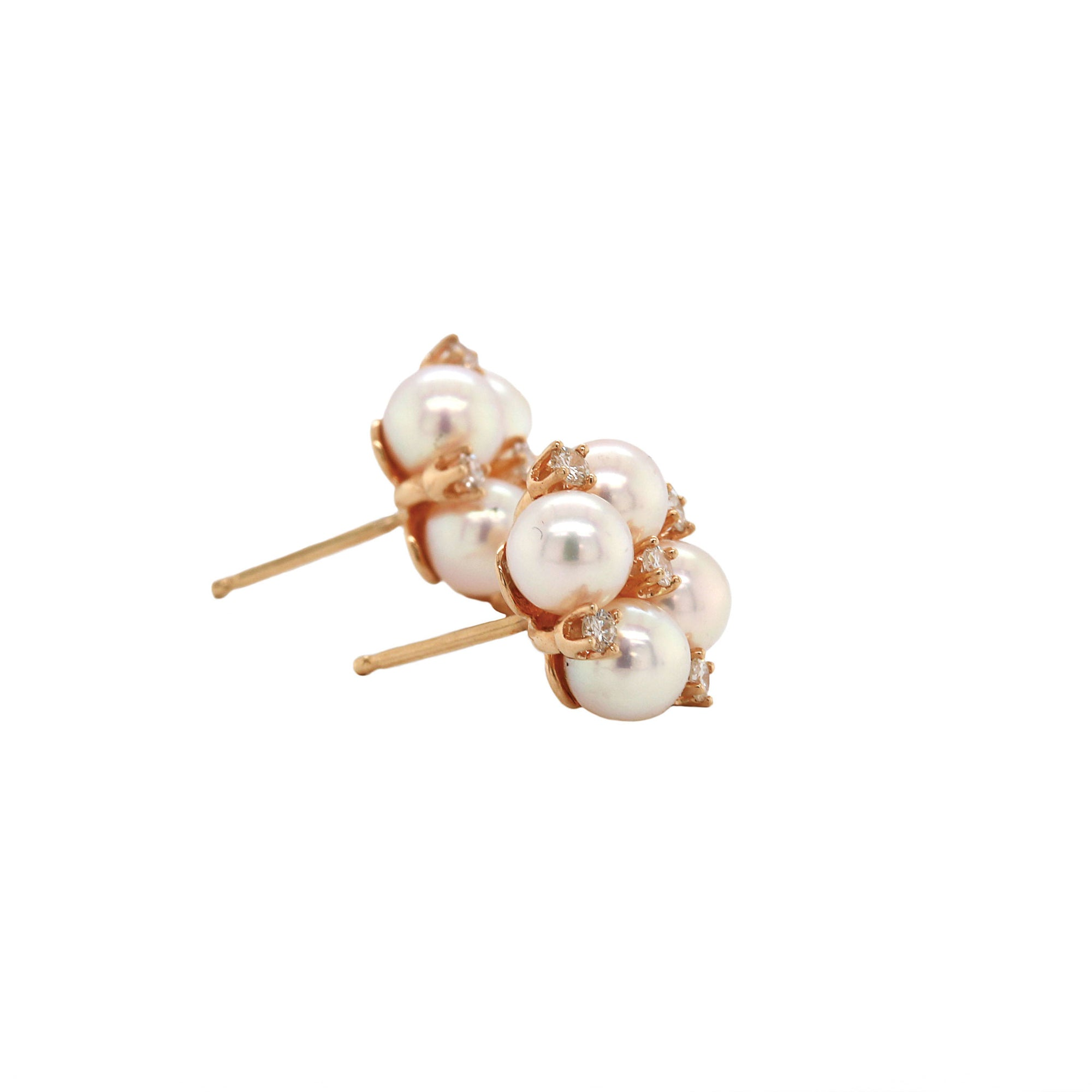 Akoya Pearl & Diamond Earrings