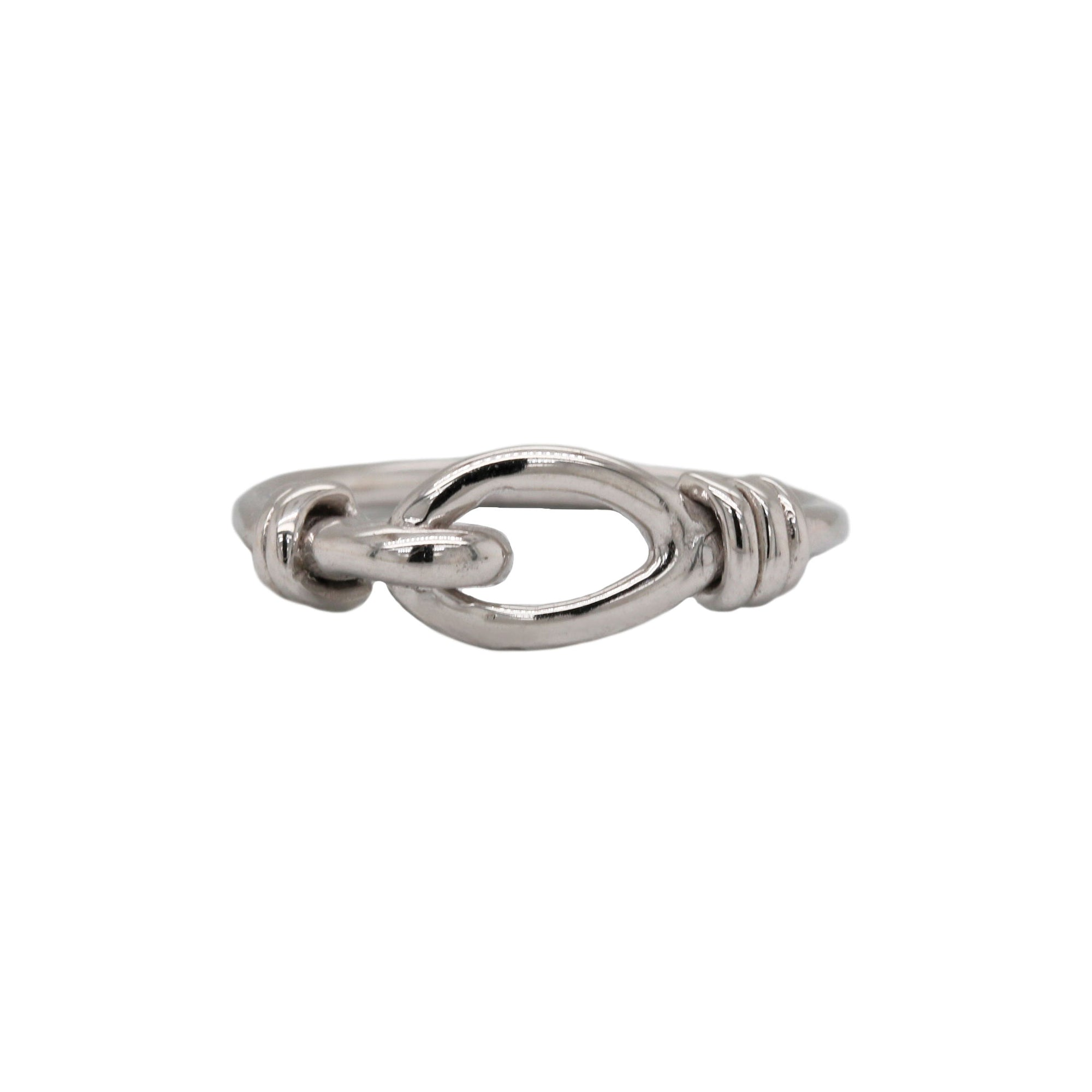 Ladies Small Knot 14K White Gold Ring