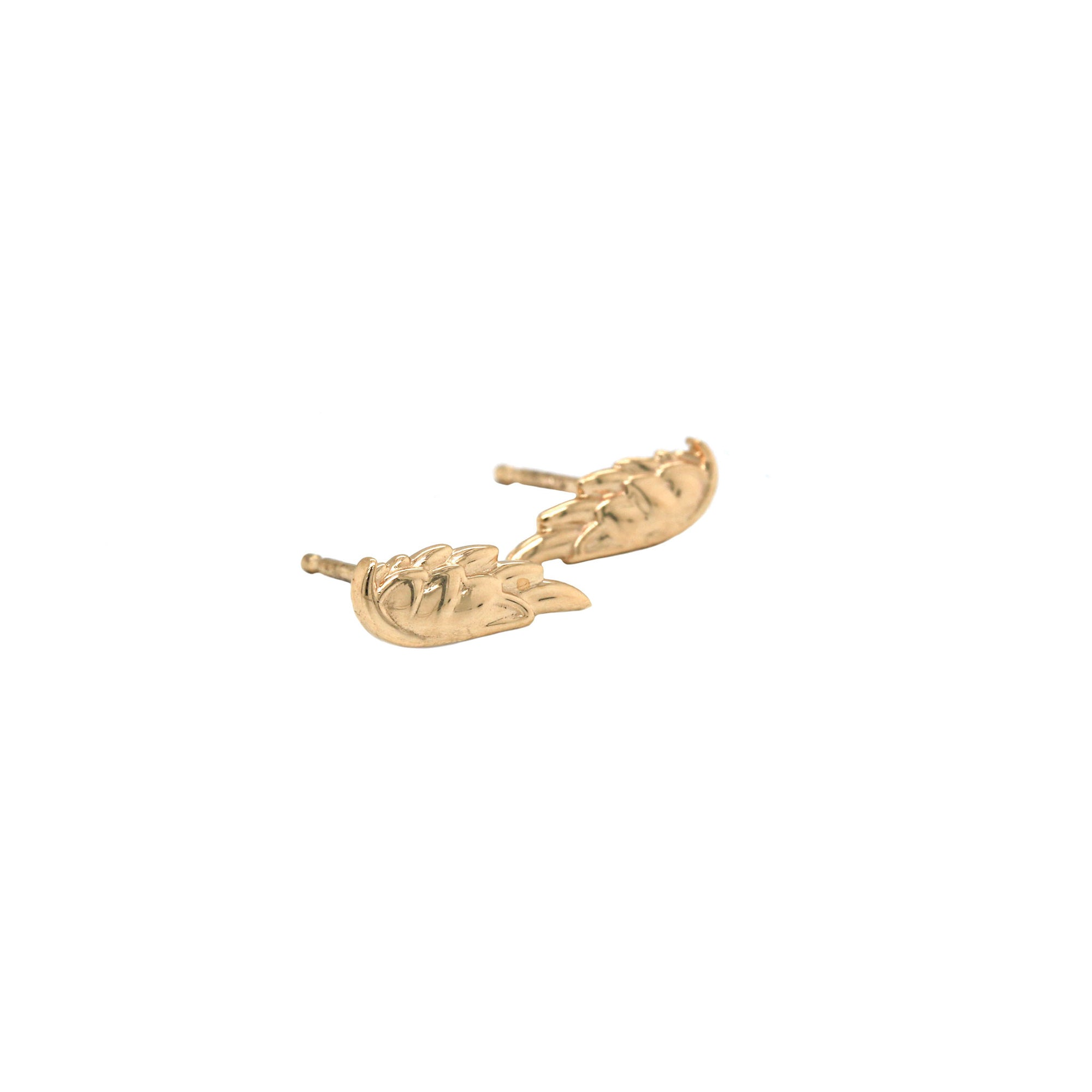 Gold 14K Gold Wing Earrings