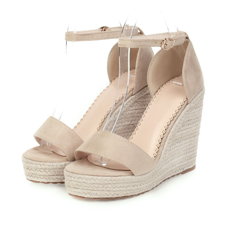 Women Wedge Heel Buckle Strap Sandals