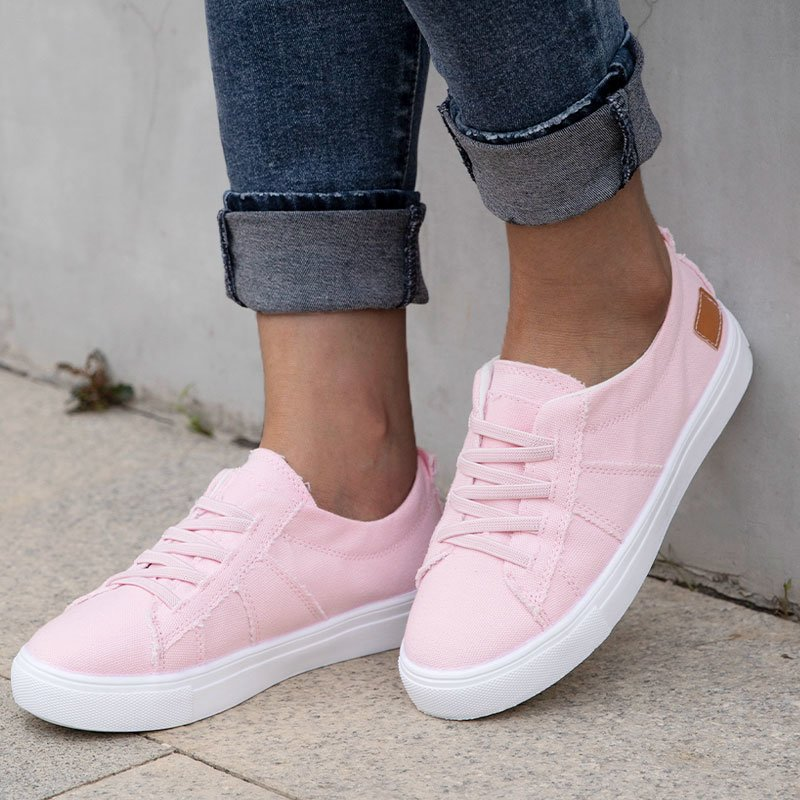 Women Canvas All Season Lace Up Denim Sneakers