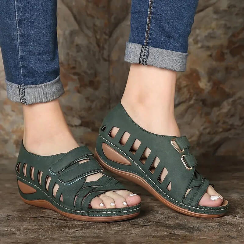 Women Casual Large Size Hollow Out Comfortable Wedge Sandals