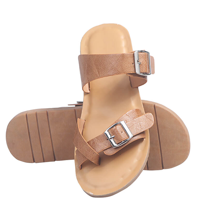 Women Large Size Animal Pattern Buckle Strap Sandals
