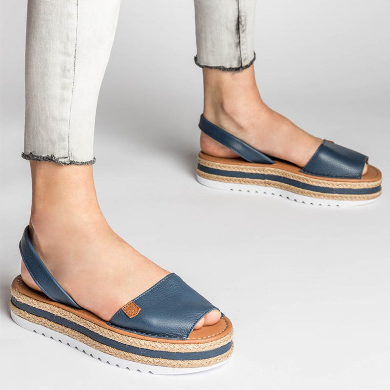 Women Seaside Flat Heel Slip On Sandals