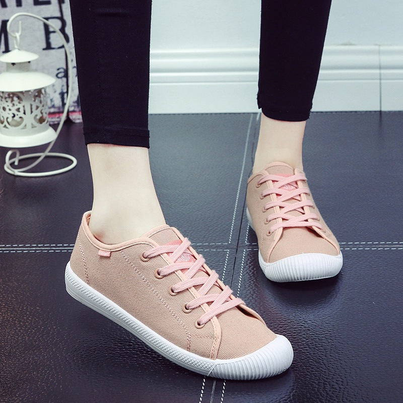 Women Casual Canvas Breathable Flat Heel Shoes