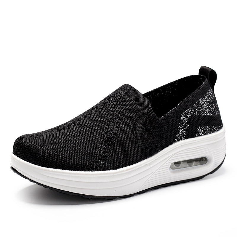 Women Casual Wedge Heel Slip On Sneakers